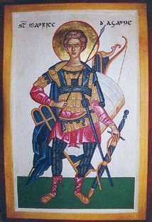 Icons of St. Maurice of Agaunum, martyr, also called Mavrikios
