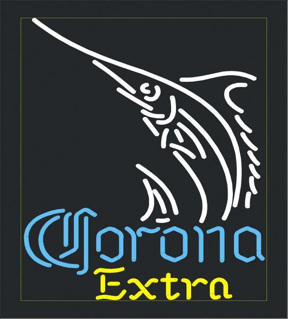 "CORONA EXTRA SAILFISH BEER BAR CLUB NEON LIGHT SIGN (18"" X 14"") - Free Shipping Worldwide - Lee Neon Signs Online Store - Free Shipping Worldwide"