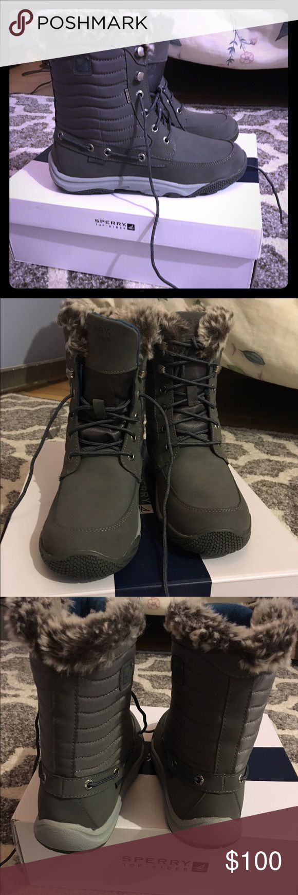Brand new Sperry winter boots Never worn sperry size 6 winter boots water proof Sperry Top-Sider Shoes Winter & Rain Boots
