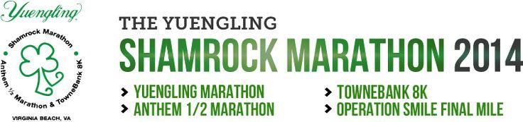 Yuengling Shamrock Half Marathon Virginia Beach, VA Sunday, March 16, 2014