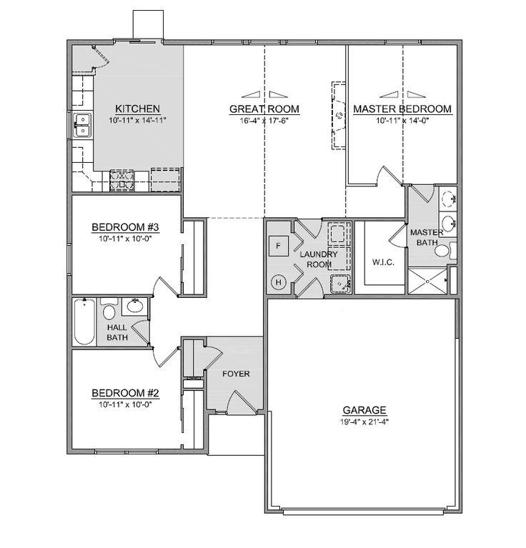 Sarasota Ranch Home Floor Plans Ohio Home Builders Ranch Home Floor Plans House Floor Plans Home Builders