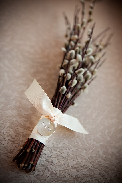 Bridesmaid Pussywillow Bouquet by The French Mouse, via Flickr