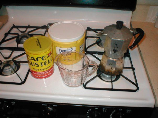 Picture of How to make cafe-con-leche (Cuban Coffee and Steamed Milk)