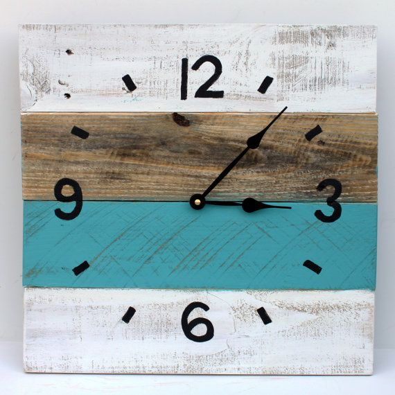pallet wood clock 2 by rusticlodgedecor on etsy. Black Bedroom Furniture Sets. Home Design Ideas