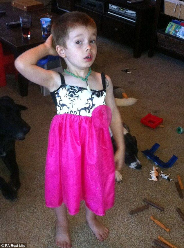 Pink lady: Avery loves wearing jewelry and feminine clothing, and the family now refers to her as 'she'