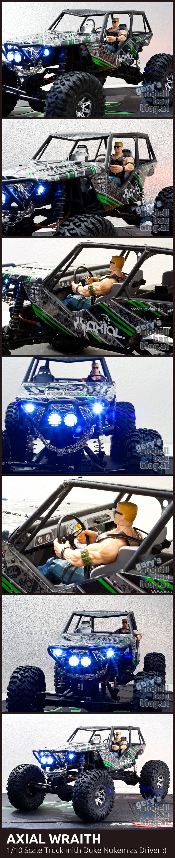 AXIAL WRAITH  1/10 Scale Truck mith Duke Nukem as Driver :)  More Pics @ http://fb.me/modellbaublog