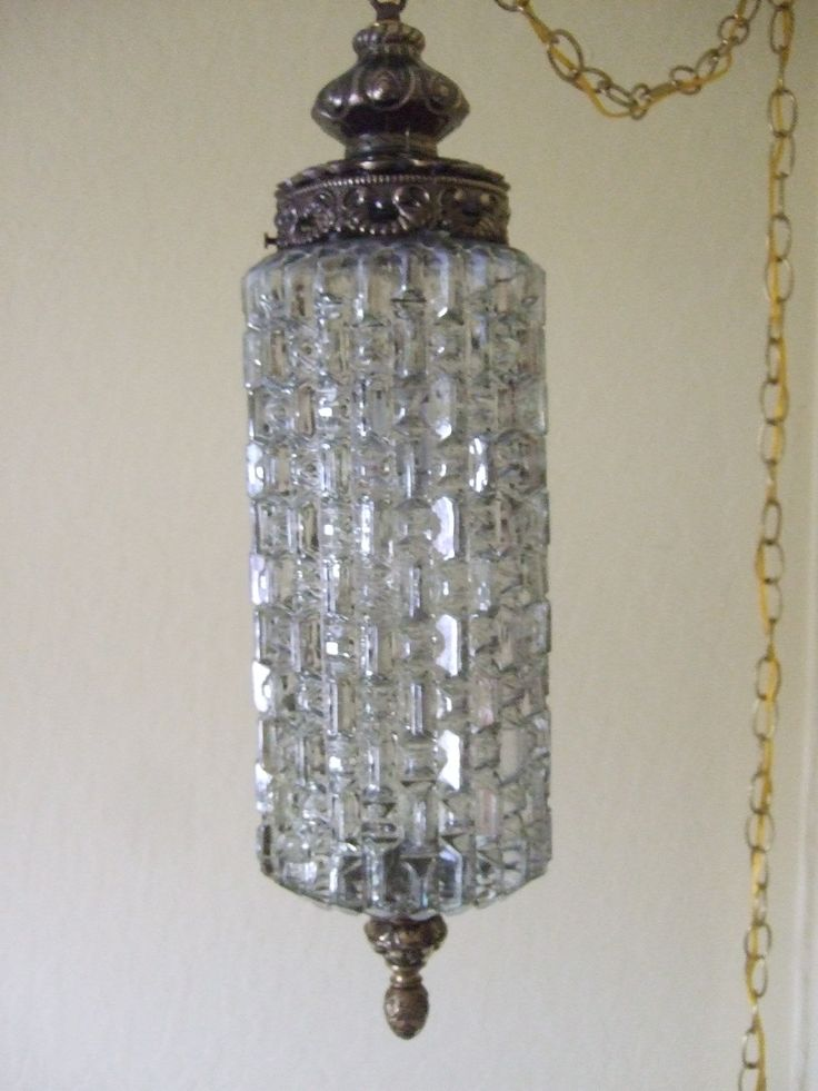 made of vintage swag lamps
