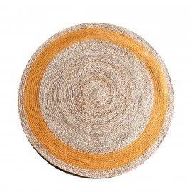 By-Boo Vloerkleed Jute Rond - Oranje 120 x 120 cm