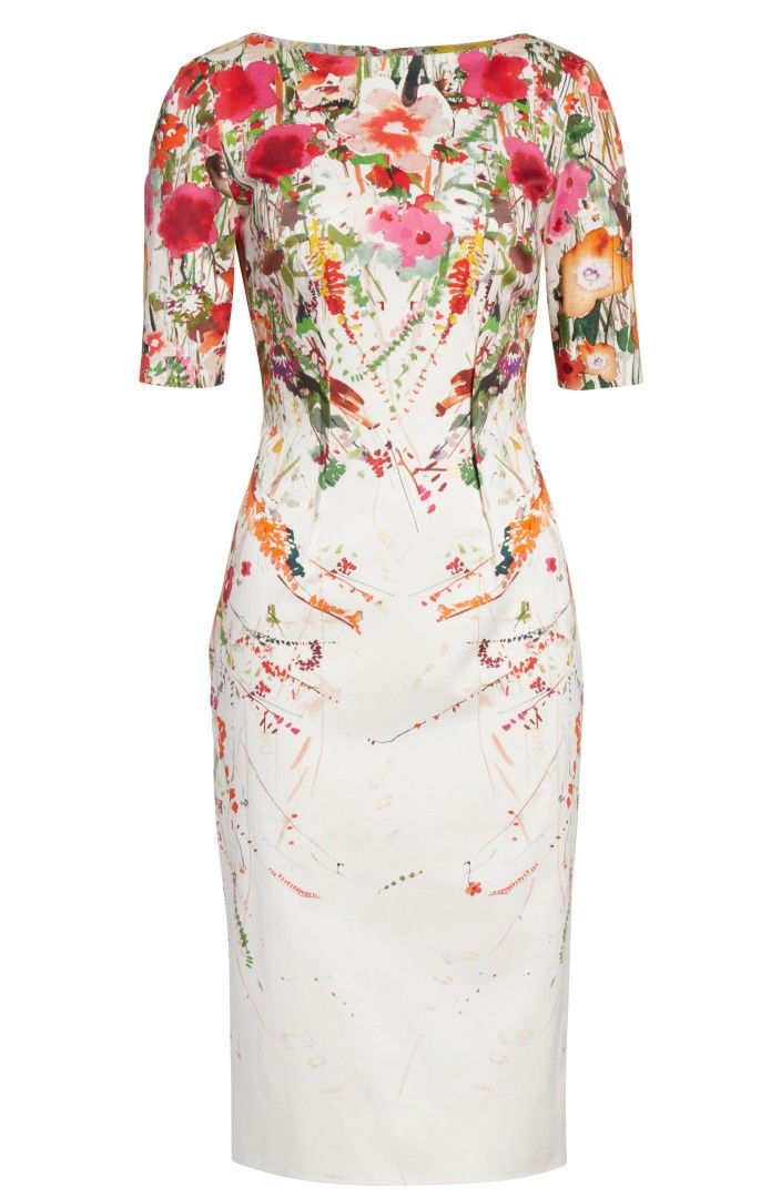 c69c2d878c72 Main Image - Lela Rose Claire Wild Flower Print Sheath Dress