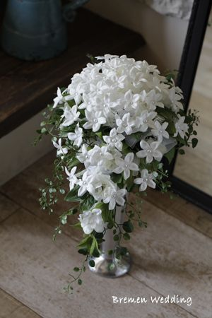 Stephanotis with pearl centres