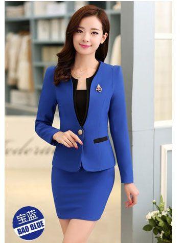 Women Office Uniform Designs Sets Women's Wear Suits Beauty Salon Wholesale Conjuntos Femininos Com Saia Blusas Promotion Rushed