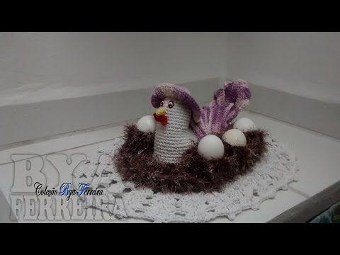 Galinha porta-ovos em crochê parte 4/4