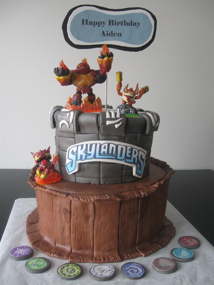Skylanders Birthday Cake Skylander Cakes Pinterest
