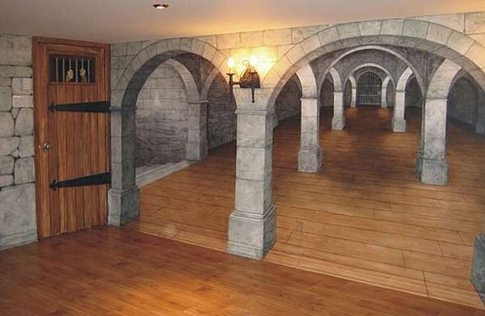 Подвальное помещение в средневековом стиле