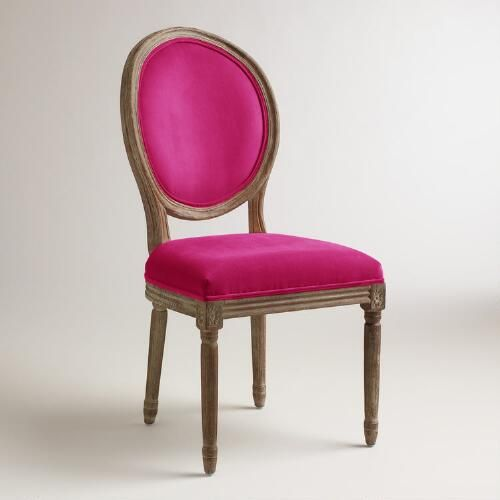 One of my favorite discoveries at WorldMarket.com: Fuchsia Paige  Round Back Dining Chairs, Set of 2