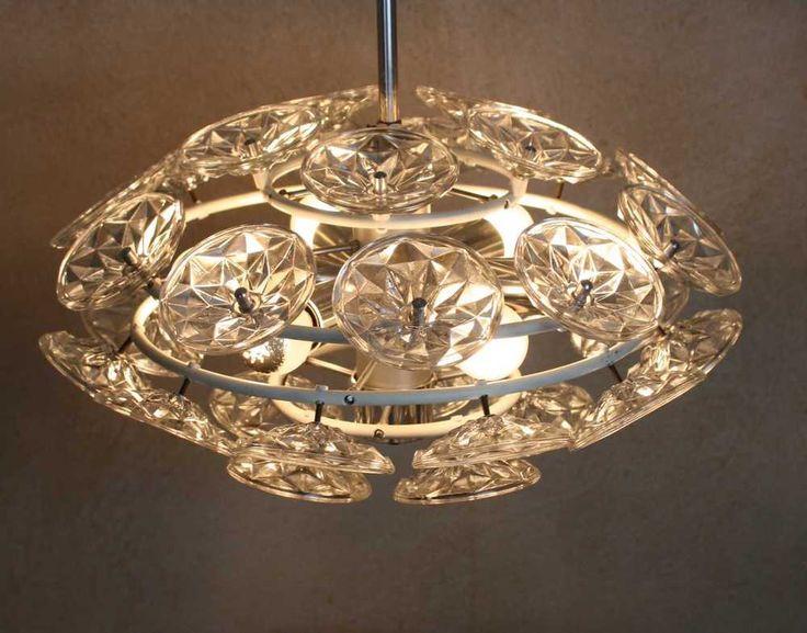 70er lampe ddr glass crystal flower ball sputnik chandelier material metall glas farbe. Black Bedroom Furniture Sets. Home Design Ideas