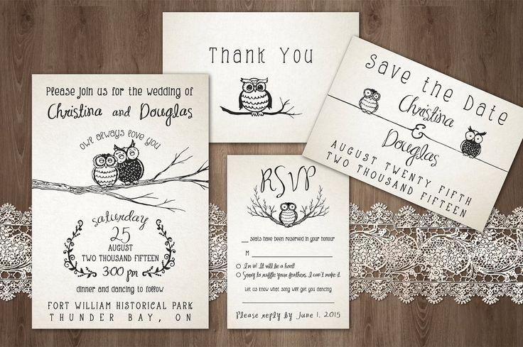 'Owl Always Love You' Wedding Pack - Invitations