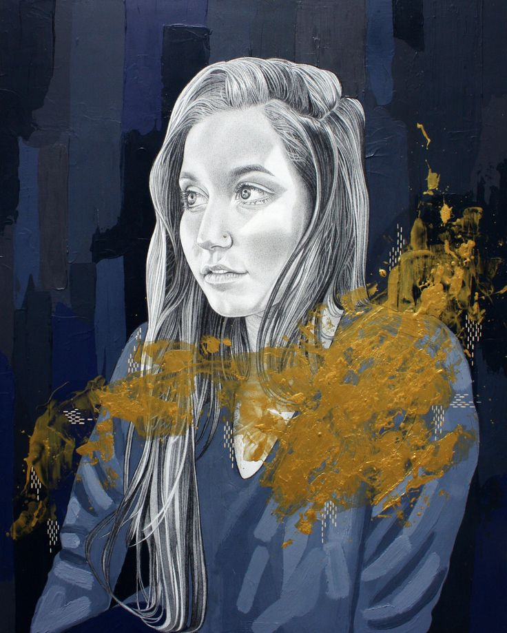 """""""Gold Soul"""" 2017 Painting and drawing by Alyce Goddard"""