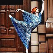 """Одежда ручной работы. Ярмарка Мастеров - ручная работа Платье крючком """"Куда приводят мечты"""" из шелка ручной окраски. Handmade."""