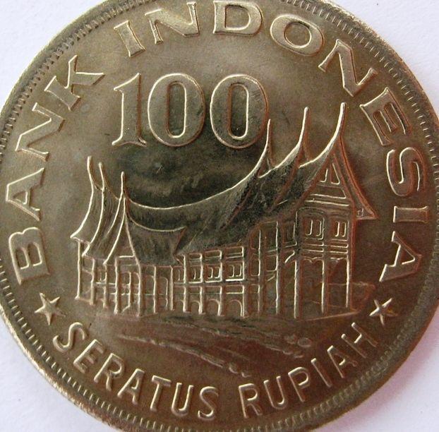 Indonesia 100 Rupiah Coins Asia Asian