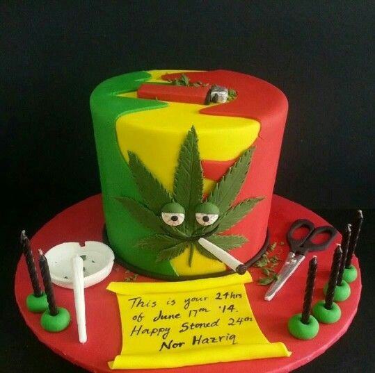 rasta birthday cake
