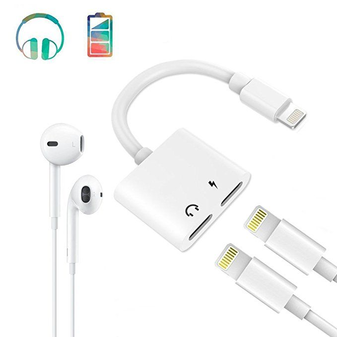 Iphone 7 Charger And Headphones Adapter Supfox Dual Lightning Headphone Jack Adapter Audio And Charge Splitter For Ipho Headphones Headphone Splitter Headphone