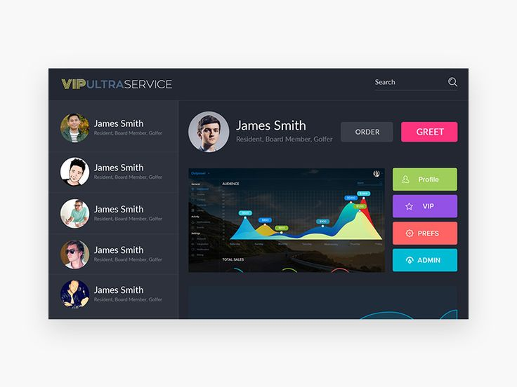 A simple dashboard interface for web apps #freebie #dashboard