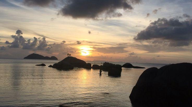 Sunset on Christmas day, December 2015, Sea Aunset Resort, Koh Phangan, Thailand