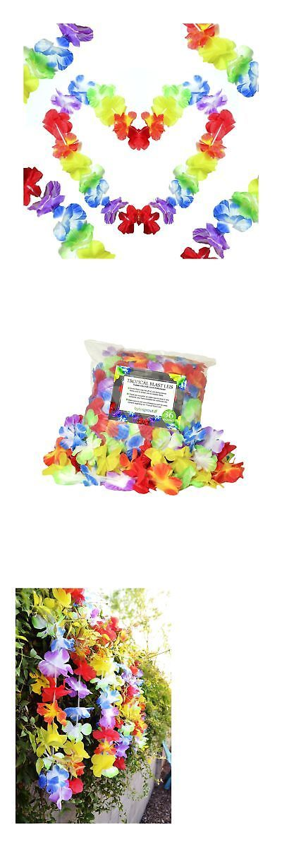 Boas Scarves and Leis 175643: Leis - Multicolored Vibrant Floral Luau Favors - Tropical Color... Free Shipping -> BUY IT NOW ONLY: $61.99 on eBay!