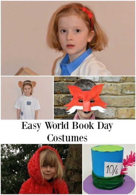 Easy World Book Day costumes, includes Mad Hatter, Matilda, The BFG and lots more