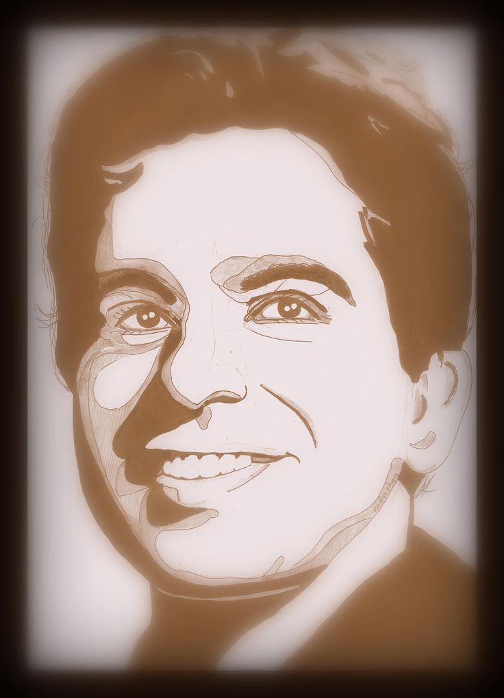 Dilip kumar person sketch portrait portrait tattoo