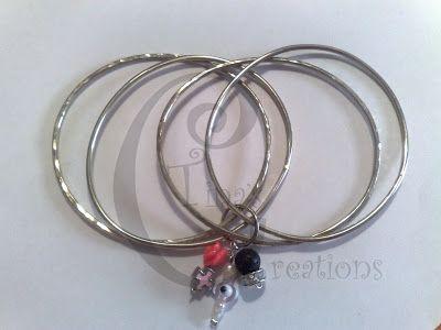 Tina's Creations - Handmade Jewels & More!: 10€ Βραχιόλια βέργες / Bangle bracelets