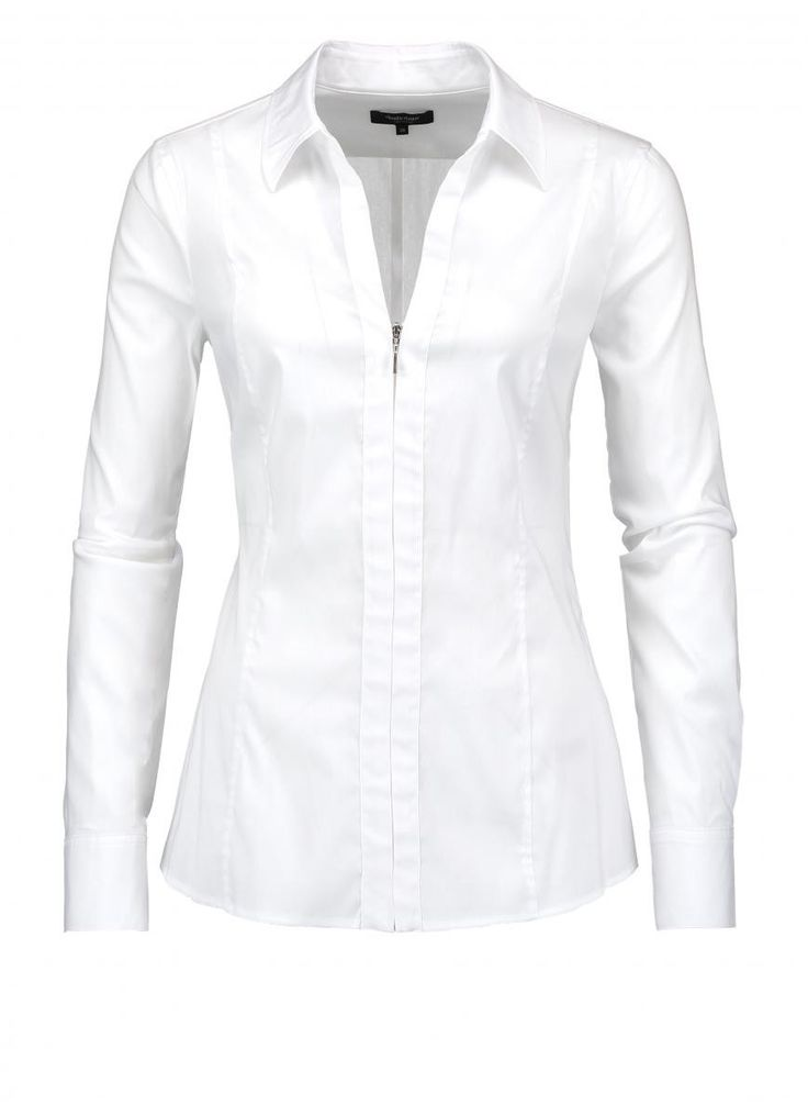Getailleerde witte blouse   Claudia Sträter