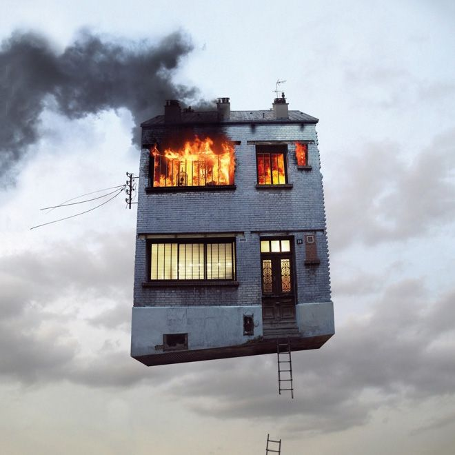 Flying Houses - A Surreal Series by Laurent Chehere | HUH.