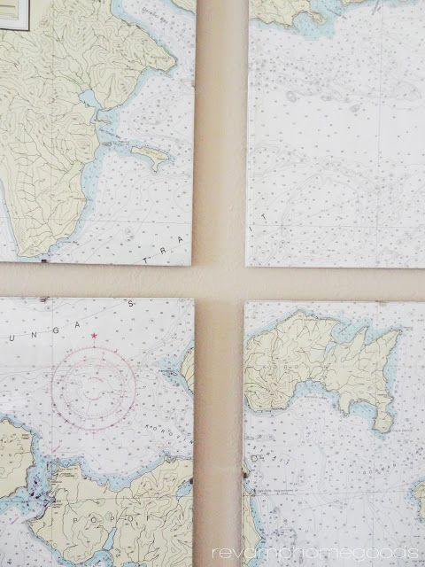 Revamp Homegoods: DIY Nautical Chart Art