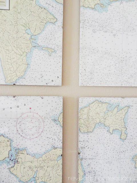 Revamp Homegoods: DIY Nautical Chart Art