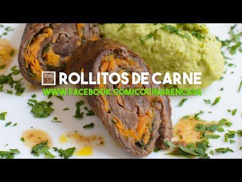 Rollitos de Carne - Carne al horno - YouTube