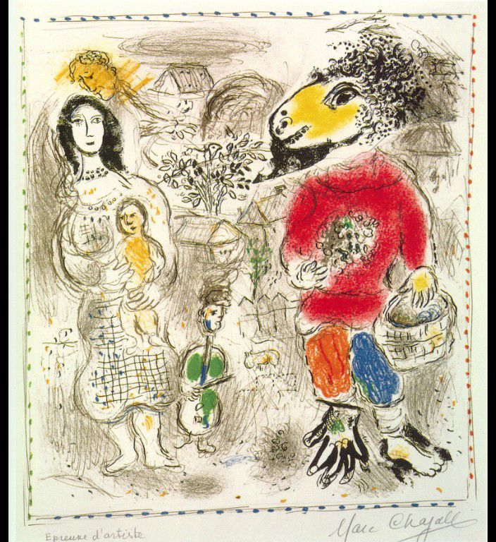 Little peasants by @artistchagall #naïveart