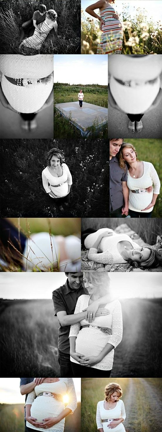 Super cute maternity photo shoot ;) @Christina & Brethauer (not sure I will look this cute...but they pull it off nicely)
