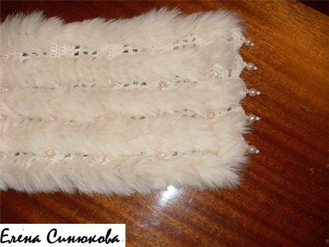 idea - crochet and fur scarf