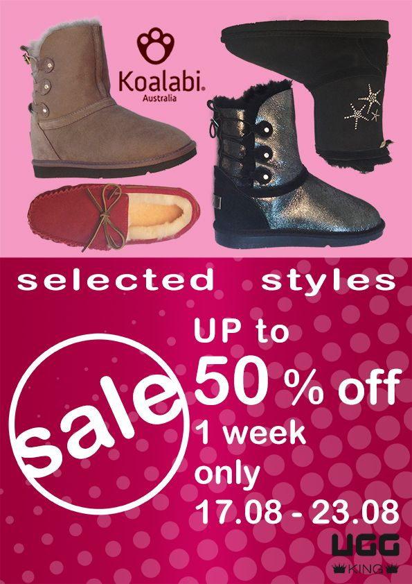 """""""Limited time promotion for selected Koalabi range - 50% OFF from 17.08.2015 ~ 23.08.2015"""""""