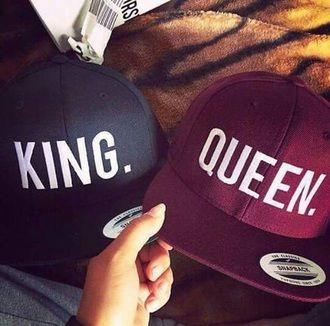 hat queen king king and queen baseball cap matching couples couple love mrs. mr and mrs mr. cap snapback blue violet boyfriend girlfriend red king hat king queen hats couples hat hair accessory king queen black with white letters red black mens cap cape
