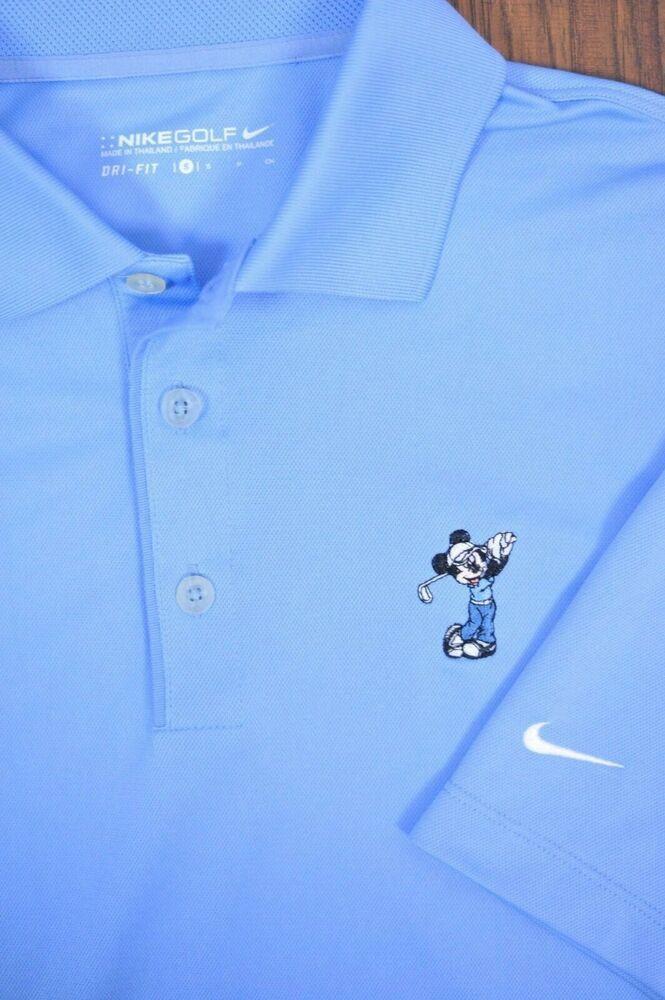 3390a3ee Nike Golf Dri-Fit Polo Shirt Disney Mickey Mouse Blue Men's Small S #fashion
