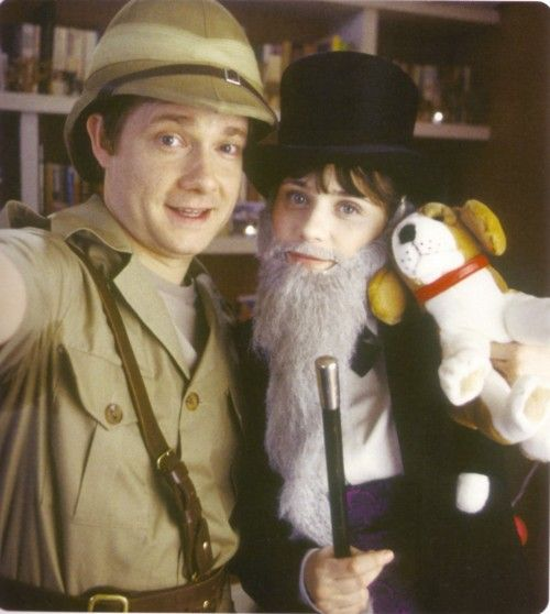 Martin Freeman and Zooey Deschanel from The Hitchhiker's Guide to the Galaxy