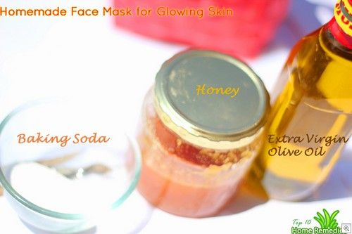 Homemade face mask for glowing skin
