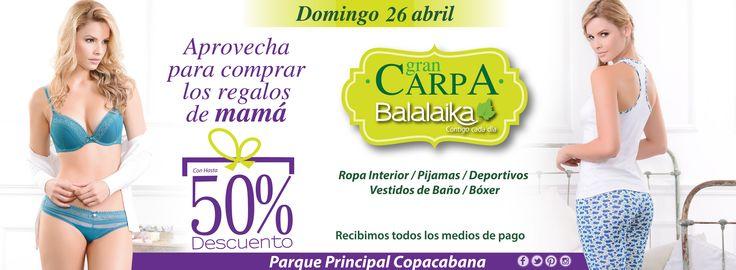 Te esperamos este domingo 26 en el parque Principal de Copacabana (Antioquia)