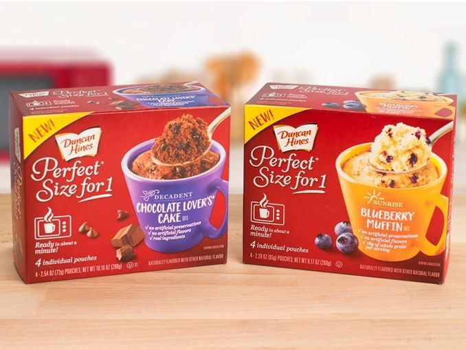 Duncan Hines Launches Perfect Size For 1 Mug Cakes