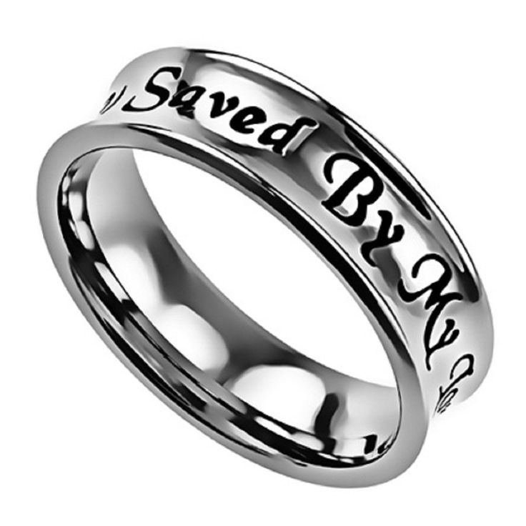 - Faith: The Truth will set us free. Be reminded with this ring that we Christians must rely on God's word at all times. - Bible Verse: Saved By Grace Through Faith In Christ (Eph. 2:8,9). - Style: 5m