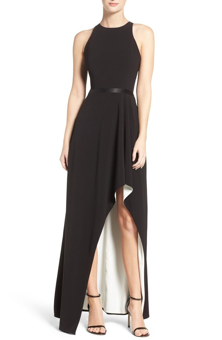 Main Image - Halston Heritage High/Low Gown