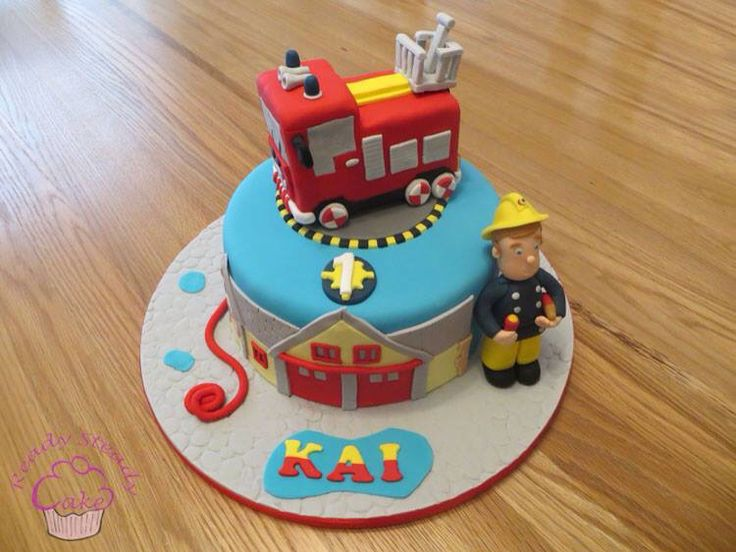 Fireman Sam 1st birthday cake